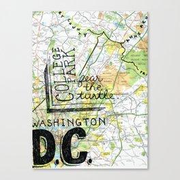 DC & College Park Canvas Print