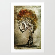 Crying Dryad Art Print