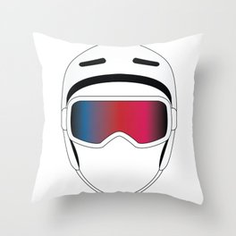 Snowboard Helmet and Goggles Throw Pillow