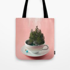 Hot cup of tree Tote Bag