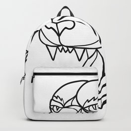 Panther Angry Head Mosaic Black and White Backpack