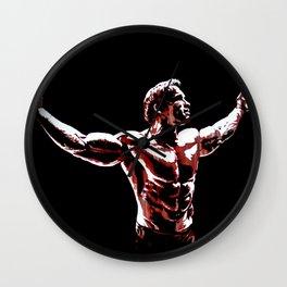 Arnold Schwarzenegger Portrait Pop  Wall Clock