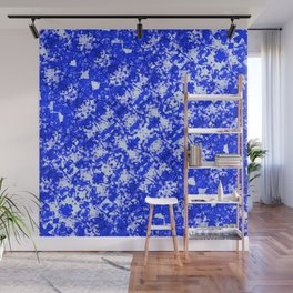 Blue and White Fluid Abstract 45 Wall Mural