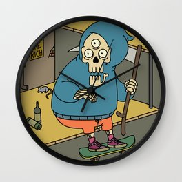 Reapin' Skatin' Chillin' Wall Clock