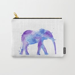 Watercolor Elephant Carry-All Pouch