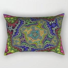 Fractal Cartouche Rectangular Pillow