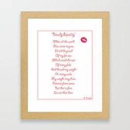 Bawdy Equality Framed Art Print