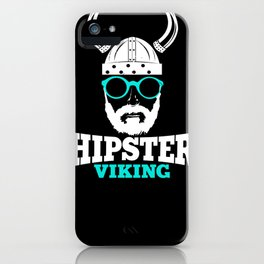 Hipster Viking iPhone Case