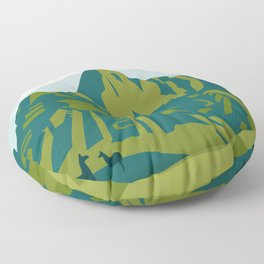 Machu Picchu Illustration by Cindy Rose Studio Floor Pillow