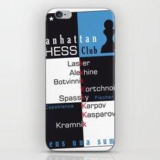Manhattan Chess Club Poster iPhone & iPod Skin