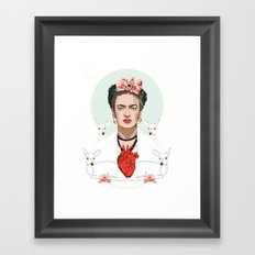 Frida Kahlo (Light) Framed Art Print