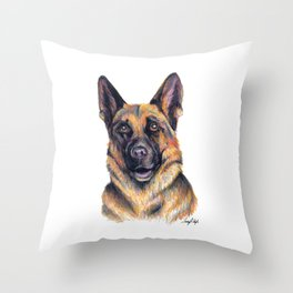 German Shepard - Dog Portrait Throw Pillow