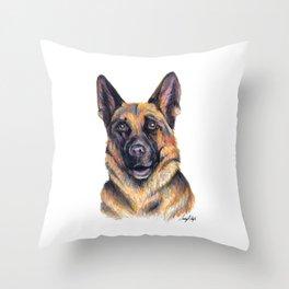 German Shepard - Dog Portrait Throw Pillow