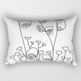 Babies breath and pusywillow drawing Rectangular Pillow