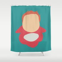 ponyo Shower Curtains featuring Ponyo by Polvo