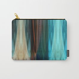 Pattern abstract brown and blue Carry-All Pouch