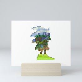 Sonic Pixels Cut-out Mini Art Print