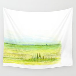 Green meadow Wall Tapestry