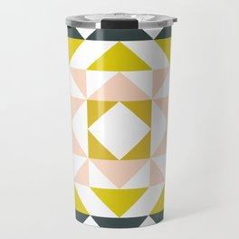 Pretty Triangle Modern Medallion Travel Mug