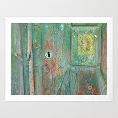 MY OLD GREEN DOOR Art Print