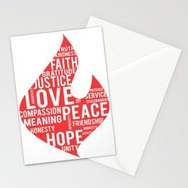 Fire flame and virtues Stationery Cards
