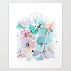 Gentle bouquet Art Print