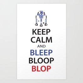 Bleep Bloop Art Print