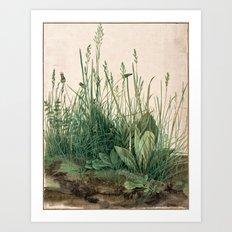 The Large Piece of Turf  Art Print