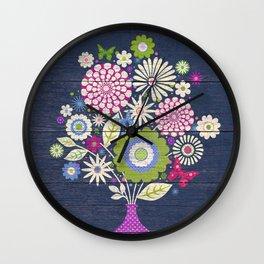 Butterfly Bouquet Wall Clock