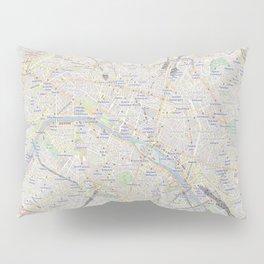 map of Paris – France, French,city of light,seine, parisien, parisian. Pillow Sham