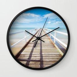 Boardwalk on the Beach Wall Clock