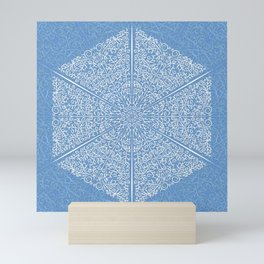 Crystalline Blue Winter Mini Art Print