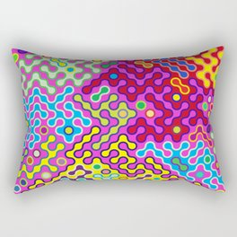 Abstract Psychedelic Pop Art Truchet Tile Pattern Rectangular Pillow
