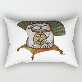 White maneki neko (be Rectangular Pillow