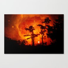 Fire in the Everglades Canvas Print