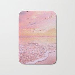 Pink sunset Bath Mat