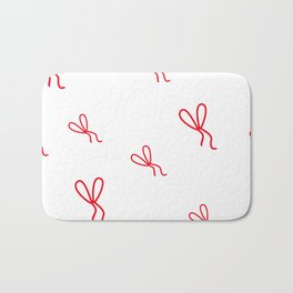 Kid pattern. Seamless pattern with small red bows Bath Mat