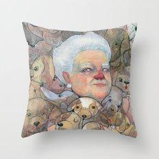 Miss Puppy Throw Pillow