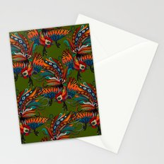 rooster ink green Stationery Cards