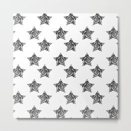 vector seamless background with stylish retro grunge scratch stars. Eps 10 Metal Print