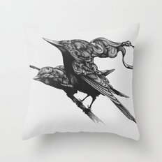 They Talk Together Throw Pillow