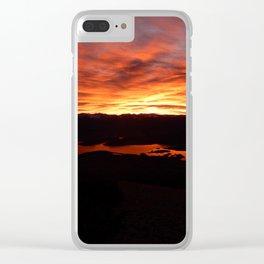 Dillon Sunrise Clear iPhone Case