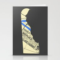chad wys Stationery Cards featuring There's No Place Like Home [Chad] by Ebenezer Hedgehog