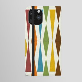 Mid-Century Modern Art 1.4 iPhone Wallet Case