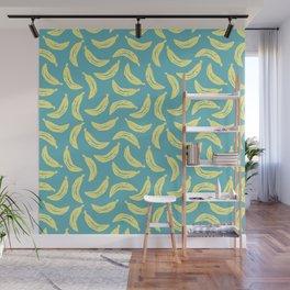 Banana stencil pattern Wall Mural