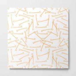 BOBBY PINS (funky orange)) Metal Print
