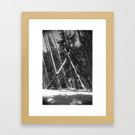 Natural Triangle Framed Art Print