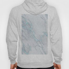 Marble Love Sea Blue Metallic Hoody
