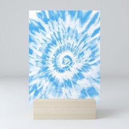 Light Ocean Blue Tie Dye Mini Art Print