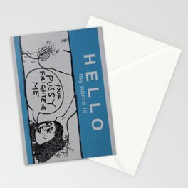 Hello My Name Is - Pussy Stationery Cards